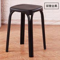 餐厅餐椅四方塑料凳子无靠背椅子圆角住宅休厅浴室成
