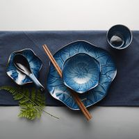 日式摆台餐具套装一人食陶瓷火锅寿司店餐厅配套碗碟勺杯餐盘