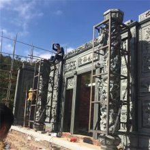 质地优良精心雕刻9米高浮雕文化石墙 庞大工厂可接受大型定制石雕