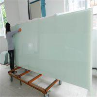 烤漆钢化玻璃加工厂定制加工3-19mm大小尺寸烤漆磁性玻璃写字板
