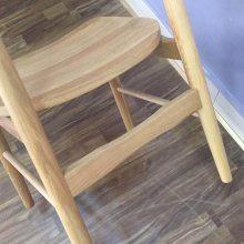 进口白橡餐椅子系列 牛角实木餐椅 山东椅子厂 韩式扶手实木餐椅