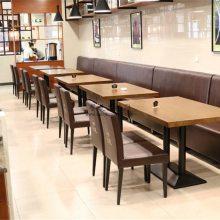 肇庆餐厅桌椅批发,时尚菜馆人造石餐桌订做