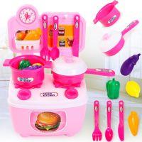 迷你小厨房 儿童仿真厨具厨房做饭餐具台 一件代发