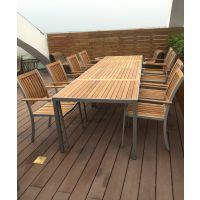 厂家直销TAY008碳化防腐木桌椅广场休闲桌椅