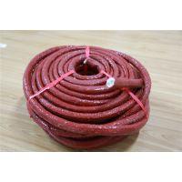 厂家大量定制批发 耐高温玻纤硅胶防护盘根