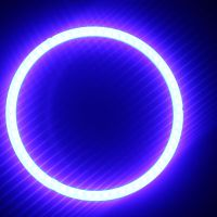 led车灯cob光源设计恶魔天使眼紫光车灯结构效果图led红光车灯cob紫光天使眼灯