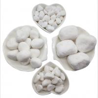 天然白石子鹅卵石白石头汉白玉彩石园艺盆栽石头多肉铺面庭院造景