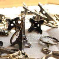 韩国创意  复古 埃菲尔铁塔金属钥匙扣钥匙链 3色选7563