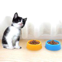 批发 经济型塑料宠物碗糖果色狗碗圆形单碗 猫碗食盆宠物食具饭碗
