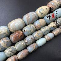天然寿山石桶珠diy饰品配件天然石散珠串珠手链材料厂批发