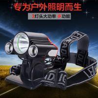 T6高亮自行车前灯 强悍强光充电户外头灯防雨骑行灯 骑行装备