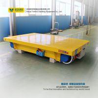 专业销售电动地平车 经久耐用牵引式电动平板车 重型平板拖车轨道