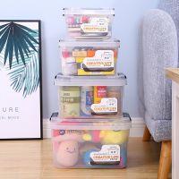 己米厂家直销儿童玩具收纳箱 小号透明塑料箱 手提化妆品收纳盒赠品定制 收纳盒工厂批发