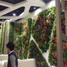 高端大气的仿真植物背景墙室内户外抗紫外线墙上绿植,绿化公园景观 墙面设计仿真植生产厂家