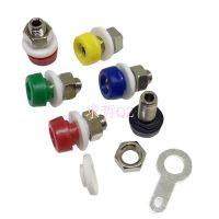 2mm香蕉插座  接线端子 测试孔可装金属Φ2插座面板绝缘带高低口