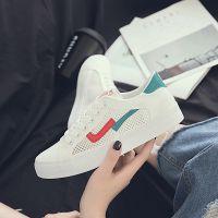 白鹿大人2018夏新款拼色网面鞋抖音网红款帆布鞋透气女鞋工厂批发