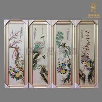 定做各种瓷板装饰挂件 陶瓷瓷板画 手工青花瓷板画