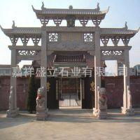 山东厂家常年生产石雕牌坊牌楼 花岗岩寺庙牌坊