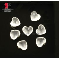 正品天然白水晶心心相印吊坠挂件小摆件 天然白晶批发 厂家发货