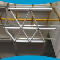 三角形铝格栅天花  三角格子吊顶天花 菱形格子天花