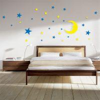 水晶浮雕DIY 3D立体墙贴 星星月亮 卧室墙贴 厂家直销 可定制