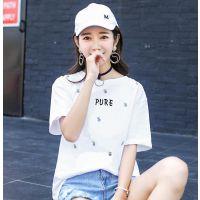 贵州遵义服装批发市场在什么地方便宜女装短袖纯棉T恤宽松大版短袖2019女士上衣亏本清货女士T恤