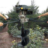 轻便手推钻洞机价格-绿化支架挖坑机-手推汽油电线杆挖坑机
