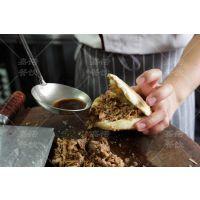 陕西特色美食小吃培训班 学正宗腊汁肉夹馍做法