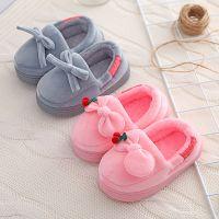 儿童棉拖鞋女童冬季小中童棉鞋可爱小孩宝宝拖鞋全包跟家居鞋批发