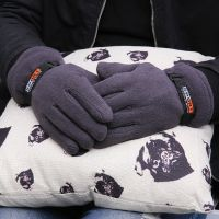 手套男士冬季情侣手套骑行男女冬天骑车防寒保暖户外抓绒手套批发