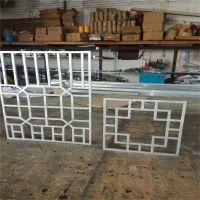 中式仿古铝合金门窗价格 背景墙铝艺花格工艺定制厂商
