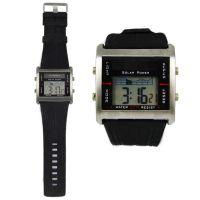 SPIKE手表厂家供应时尚新款方形金属壳太阳能防水电子手表