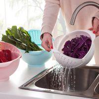 带盖加厚沥水篮厨房塑料沥水洗菜筐洗菜篮子洗菜盆洗水果篮水果盆