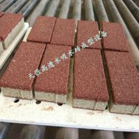 郑州天匠自动彩色面包砖机多少钱一台 可定制各种花纹透水砖模具