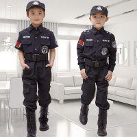 儿童警察服小特警衣服装备幼儿园舞台服小交警制服男女警察表演服