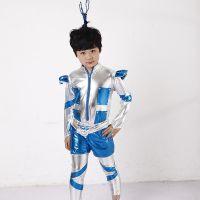 儿童机器人表演服 太空服科幻制服 六一儿童节日庆典演出服