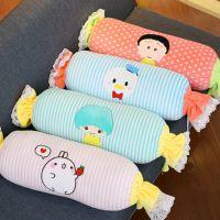 卡通动物糖果枕头被子二合一多功能空调毯抱枕两用午睡毯一件代发