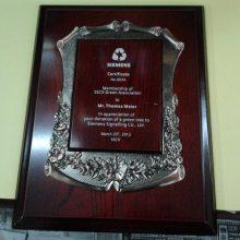西安水晶3D内雕奖杯工艺 荣誉奖牌年会颁奖纪念品彩色授权刻字