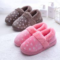 2018新款棉拖鞋女冬季包跟小碎花室内保暖侧缝家居鞋月子鞋批发