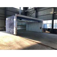 供应安徽合肥全自动移动式伸缩房 湿式喷漆室 移动打磨房