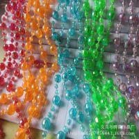 现货供应批发 透明塑料连线珠 8*4mm  婚庆 门帘饰品配件批发