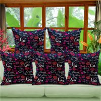 热情玫瑰花图案抱枕 时尚靠枕 热转印 跨境淘货源 厂家特价直销