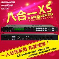 厂家直销X5数字前级效果器卡拉OK麦克风混响KTV话筒防啸叫_帝华