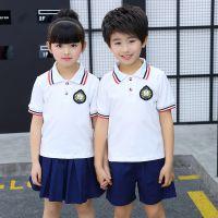 合唱男童女童夏款套装2018新款韩版中大童校园纯棉风范潮流两件套