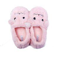 厂家定做居家室内卡通棉拖鞋女包跟冬天静音可爱毛绒拖鞋厚底防滑