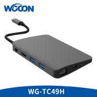 雯罡type c转换器扩展坞转2*U3+HDMI(4K@30Hz)+DP+SD/TF+Audio+R