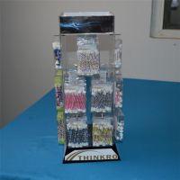 专业制作有机玻璃饰品展示架 四面旋转耳环挂饰小饰品展示架