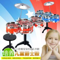 大号儿童仿真架子鼓套装乐器打击爵士鼓配凳子 婴幼儿乐器玩具