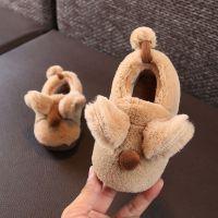 2018冬季可爱卡通小老鼠儿童棉鞋小孩保暖居家防滑柔软中童棉拖鞋