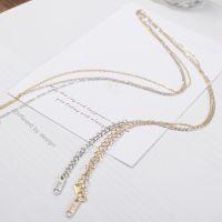 韩版简约钛钢镀18K玫瑰金裸链单链配链细链项链女链子可配坠饰品